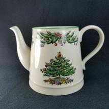 Spode Christmas Tree Garland Tea Pot Teapot Green Trim NO LID - $44.50