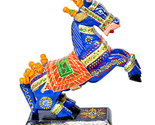 Hand-Crafted Wooden Horse Figurine Standing Statue Decorative Showpiece For Home