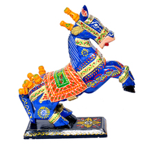 Hand-Crafted Wooden Horse Figurine Standing Statue Decorative Showpiece ... - $78.99