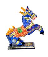 Hand-Crafted Wooden Horse Figurine Standing Statue Decorative Showpiece ... - $78.99