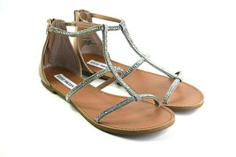 Steve Madden Beven Women's Flat Zip Rhinestones Sandals Size 6.5 - $27.46