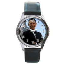 Barack Obama Unisex Round Metal Watch Gift model 17219405 - $13.99