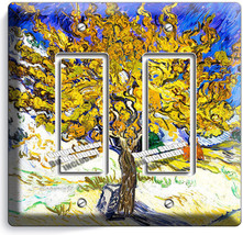 Vincent Van Gogh Mulberry Tree Painting 2 Gfci Switch Outlet Wallplate Art Cover - $11.69