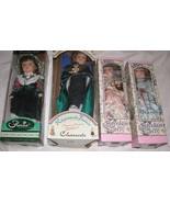 Lot of Four (4) Collectible Porcelain Dolls, 2 Hand Painted France Free ... - $81.77