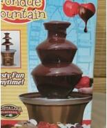 CHOCOLATE FONDUE FOUNTAIN NOSTALGIA MELT CHOCOLATE NO PUMP STAINLESS STE... - $29.69