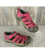 Keen Shoes Youth Girls Size 2 Pink/Grey Water Shoes Strappy Hiking Camping  - $19.79
