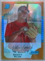 2005 Bowman Chrome Draft Oro Rfrc #76 Scott Azul / 50 Fy - $19.48