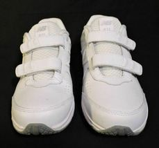NWOB Mens New Balance 411 sneakers 7.5 D White Leather No Lace Easy ON NEW shoes image 4