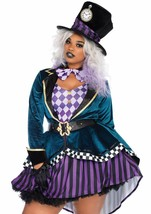 Leg Avenue Delightful Mad Hatter Alice Adult Womens Plus Size Halloween ... - $54.95