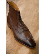 Handmade ankle high brogue ankle high leather boots men 600x600   copy thumbtall