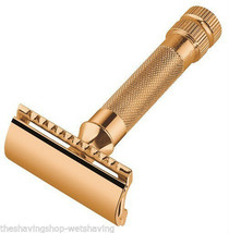 Merkur HD Gold Plated Double Edge Safety Razor with Bar (Closed) Guard 34G - $62.50