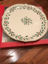 "Lenox Holiday Round Platter, 13"", New in Box - $56.99"