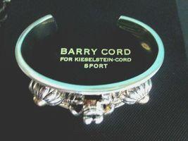 Barry Kieselstein Cord Frog & Flowers Cuff Bracelet Sterling & 14K Gold Orig Box image 10