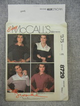 Tops Long sleeve 4 variations Brooke Shields  Misses 10-12 McCalls 8729 UC FF - $6.00