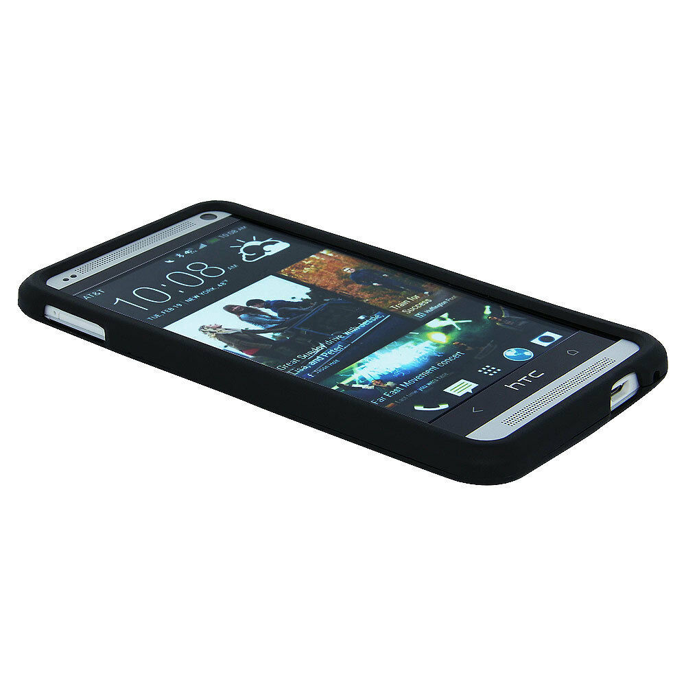 Black Snap-On Hard Case Cover for HTC One M7