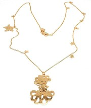 Long Necklace 70 cm, Silver 925, Pendant Medusa, Starfish, le Favole image 1