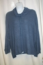 NEW WOMENS PLUS SIZE 3X SIMPLE PLEASURES SOFT BLUE  COWL NECK SLEEP TOP - $16.54