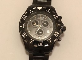 Men's Invicta Specialty Model 6412 Black Chronograph Stainless Steel Watch 91 - $99.99