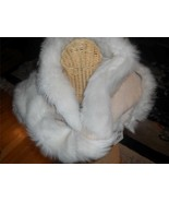UGG Sheepskin Luxurious Shearling Snood Infinity Scarf Sand New - $224.55