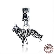 Women Friend Loyal Sheepdog Pendant Charm Fit Bracelet Sterling Silver J... - $24.99