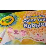 Crayola Spray And Play Color Your Bubbles Bath Time Fun Rainbow Bubble Bath - $7.91