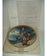 Edwin Knowles Norman Rockwell Waiting On Shore Rediscovered Women plate ... - $18.99