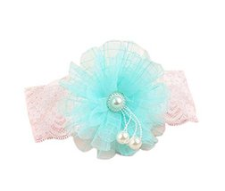 Creative Blue Sunflower Girl Headdress Lace Headband Baby Accessories