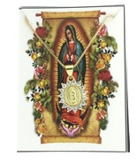 """14k Gold Plated Virgen de Guadalupe Necklace Pendant Virgin Mary 16"""" cha... - $11.88"""