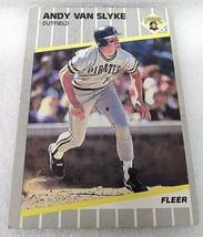 ANDY VAN SLYKE 1989 FLEER #222 (J03) - $4.94