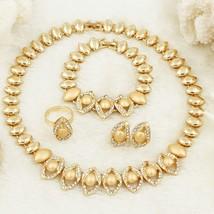 Italian Gold Women Jewelry Accessories Queen Crystal Dubai Luxury Bead Necklaces - $40.98