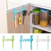 1pcs  Kitchen Door Rack Hooks Hanging Storage color blue green white - $5.99