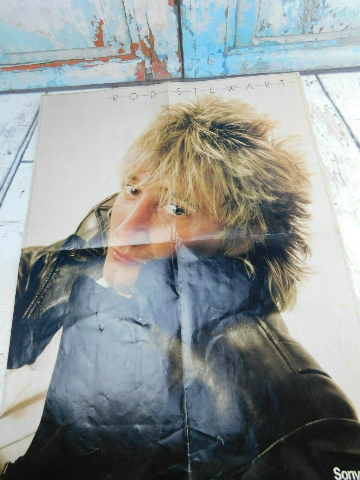 Primary image for Rockbill Rod Stewart 1981 Sony Tape Concert Fold Out Poster