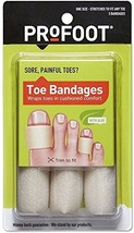 Profoot Toe bandages 3 count Pack of 2