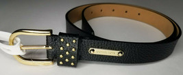 Michael Kors Black Leather Belt Size Medium NEW $48 - $35.64