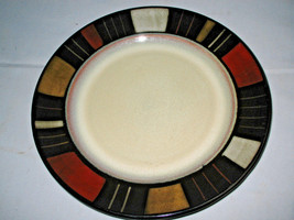 "Mikasa Waverly Dinner Plates with colorful Mossaic squares 11 1/4"" Set of 2 - $16.71"