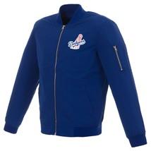 MLB Los Angeles Dodgers Lightweight Nylon Bomber Jacket Blue Vintage Logo  - $99.99