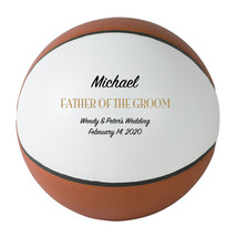 Father of the Groom Regulation Basketball Gift - Personalized Wedding Favor - $59.95