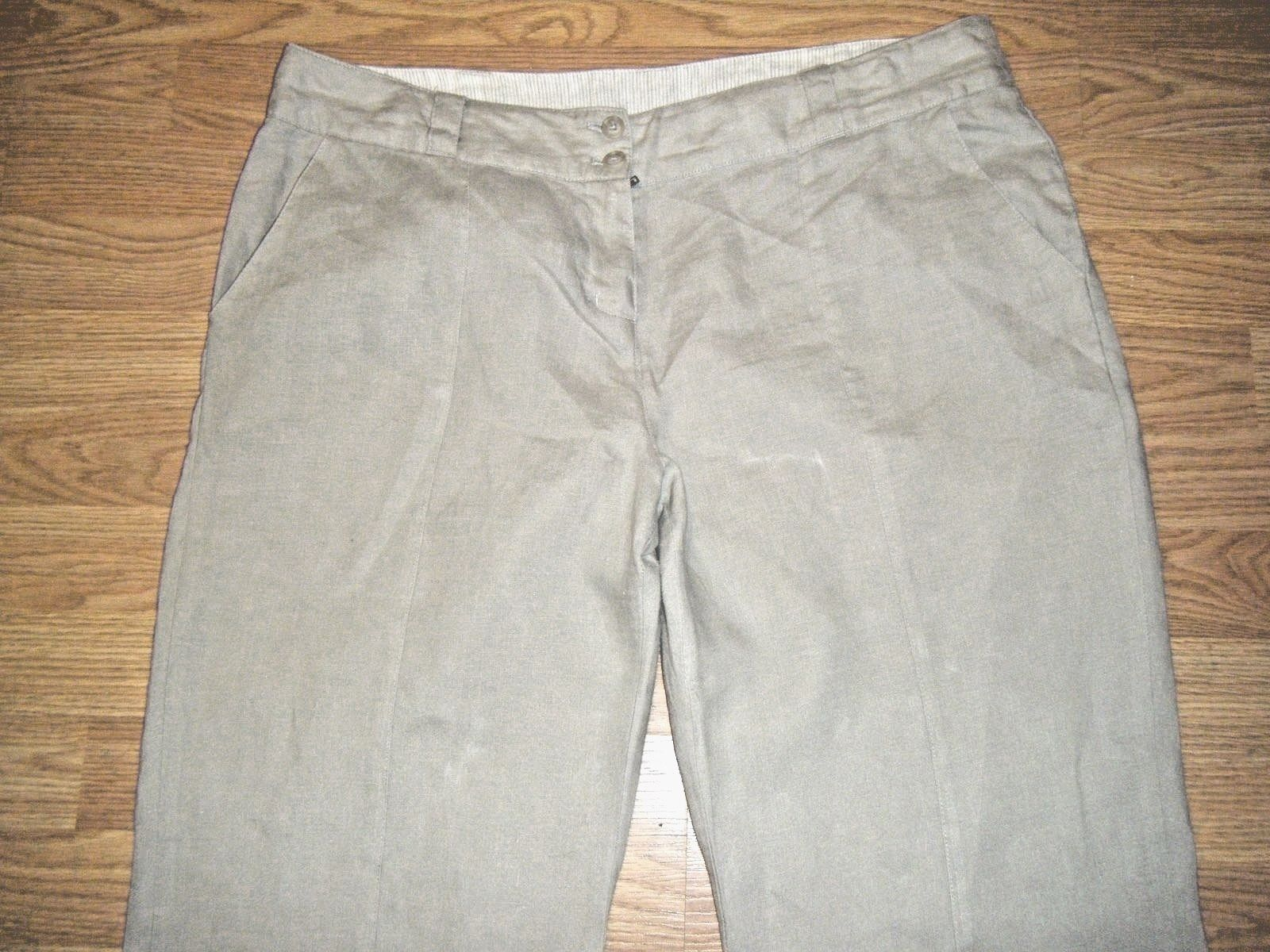 02068226006 Willi Smith Beige Linen Pants Size 14 and 50 similar items