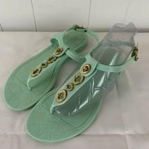 Coach Womens Mint Green Phila Q1786 Molded Flat Flip Flops Sandal Size 7B - $34.62