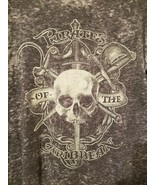 Disney Parks Mens Pirates Of The Caribbean Graphic T-Shirt Size Small Gray - $9.99