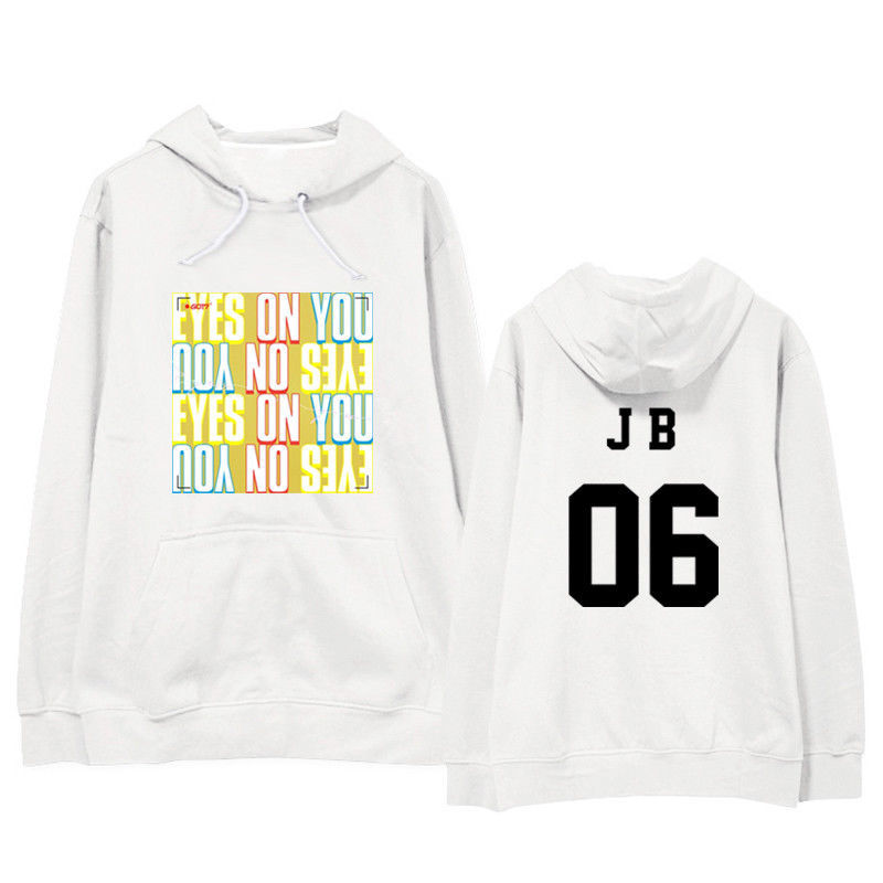 KPOP GOT7 Hoodie Eyes On You Pullover BAMBAM Letter Tops Casual Cotton