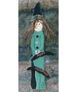 """Happy HALLOWEEN Hanging 24"""" Wood Spooky Wicked Witch w/ Cobwebs Party Sign - $29.68"""