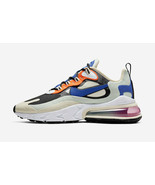 Nike Women's Air Max 270 React Fossil Shoes NEW AUTHENTIC Fossil/Blue CI... - $139.99