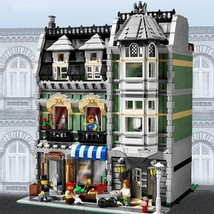 Compatible MOC City Street Creator Green Grocer Building Toy Blocks 2462... - $95.00