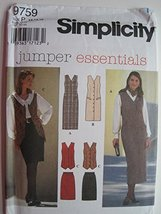 Simplicity Pattern 9759 Misses'/Miss Petite Jumper or Vest and Skirt Siz... - $11.76