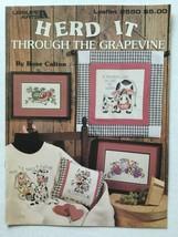 Leisure Arts Herd It Through The Grapevine Rose Calton Counted Cross Sti... - $5.93