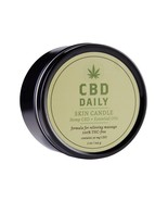 CBD Daily Skin Candle Hemp CBD And Essential Oils 100% Vegan 5.3 Ounce  - $17.99