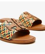 $356 Tory Burch Ines Woven Slide Multi Color Raffia Carmen Slides Sandal... - $149.00