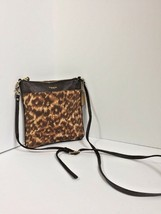 Coach Bag Crossbody Madison Cheetah Leather Fabric Brown 52104 B4 - $79.19