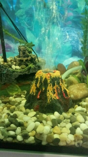 Aquarium decor volcano shape fishes tank and 50 similar items for Aquarium volcano decoration